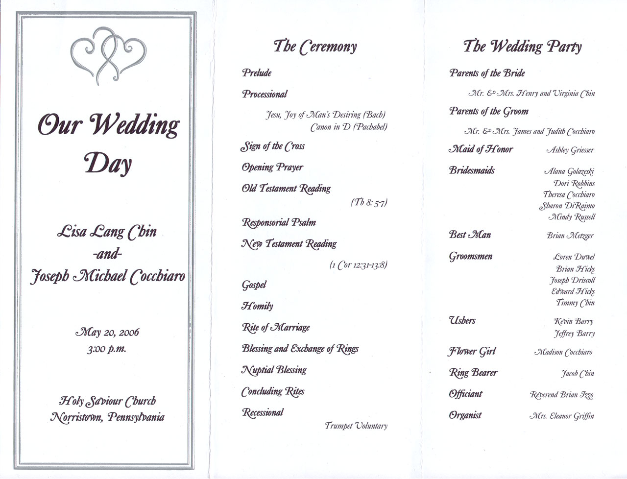 Sample wedding ceremony script